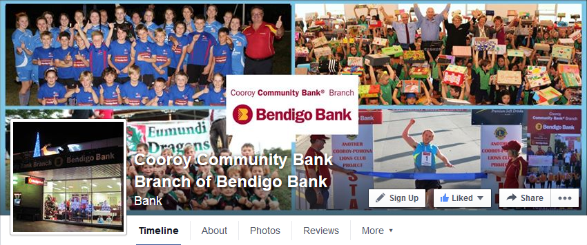 bendigo bank facebook page
